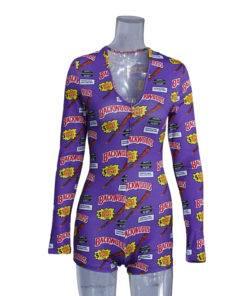 H57c61e80cbeb4f97a5e88791021e83d9t Bodysuit Long Sleeve Deep V Neck Bodycon - Short Romper Pajamas Overalls for women