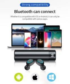 H7001e893d38f47c5bd69ab5d4e66da2eF Wireless Earbuds 3D Stereo - Dual Mic Mini Bluetooth Earphone