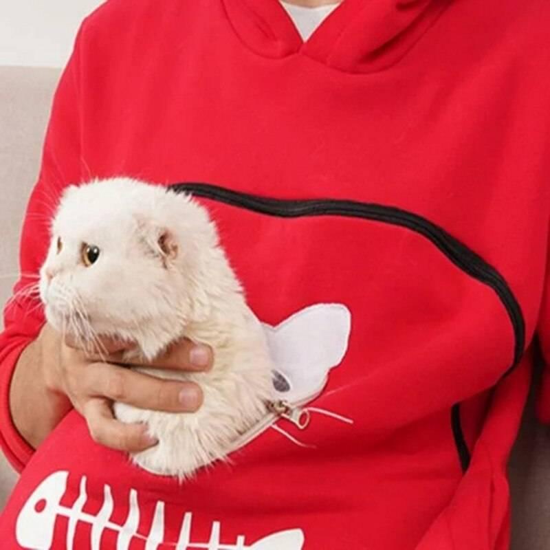 Sweatshirt Animal Pouch Hood Tops