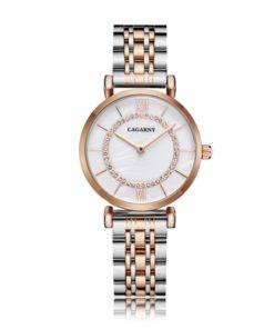 H8b742ae38875460c8d41d4bc291c71e4t Silver Rose Gold Stainless Steel Bracelet Watch For  Women