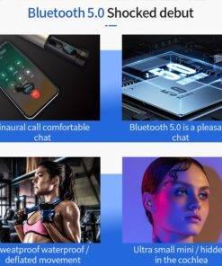 H8ea4629f73f946aaaa4b18acee3cccaat Wireless Earbuds 3D Stereo - Dual Mic Mini Bluetooth Earphone