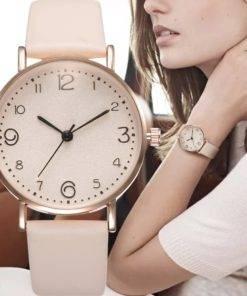 Pink Quartz Watch Women's