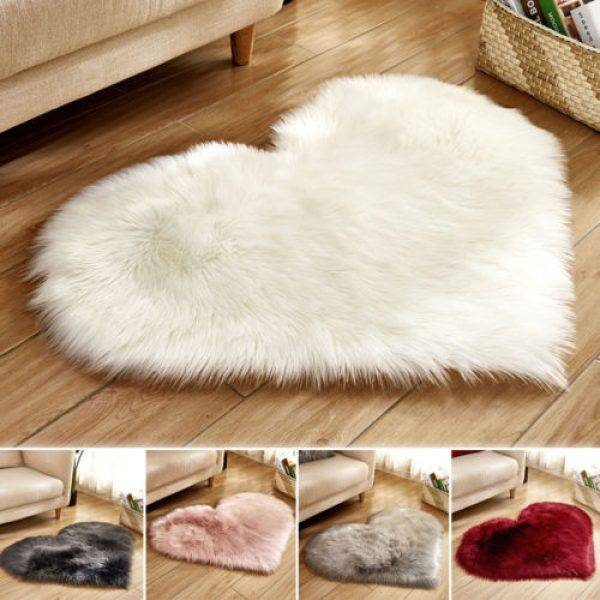 Fluffy Rugs Anti-Skid Home Bedroom Carpet Floor Mat
