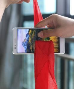 Magic Tricks Silk Through Phone Close Up