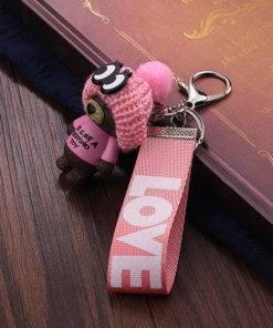 HTB17I.sP3HqK1RjSZFgq6y7JXXaK Very Cute Teddy Bear Keychain