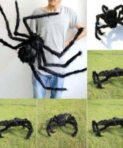 HTB1CgUqXovrK1RjSspcq6zzSXXaG Big Black Spider - Cool Halloween Decor
