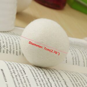 Natural Laundry Fabric Softener Ball Premium Organic Wool Dryer Balls