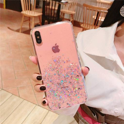 Epoxy Star Transparent PhoneCase For iphone