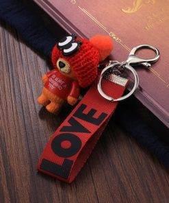 HTB1f4UBP7voK1RjSZFwq6AiCFXaX Very Cute Teddy Bear Keychain