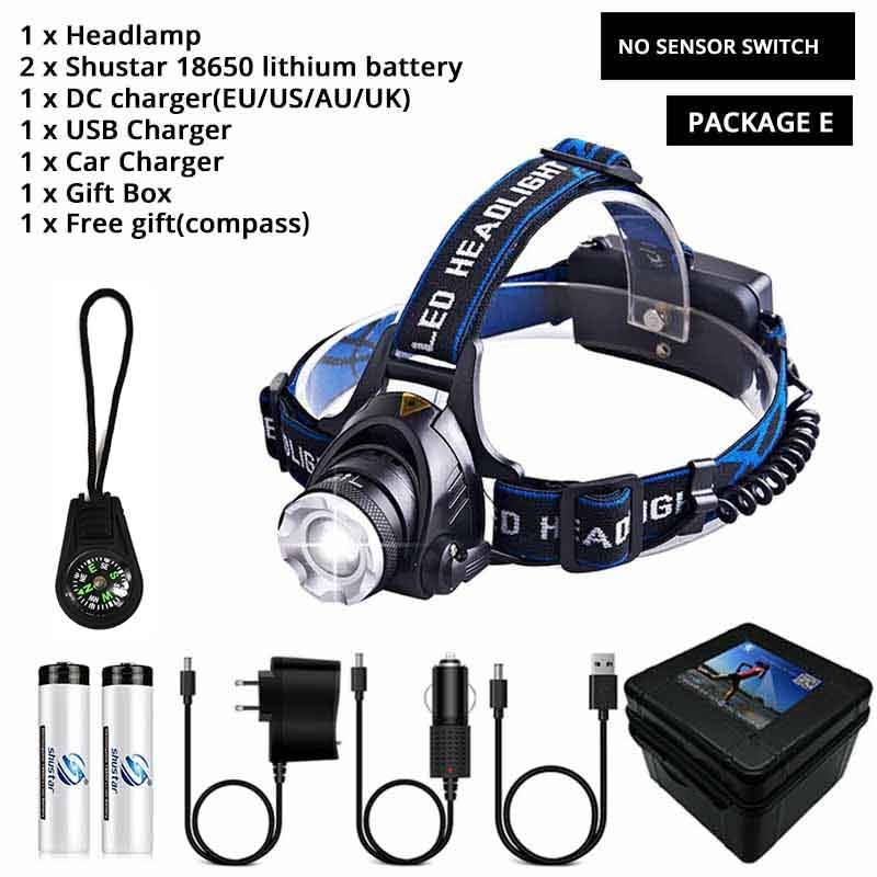 Headlight Waterproof Super bright camping light