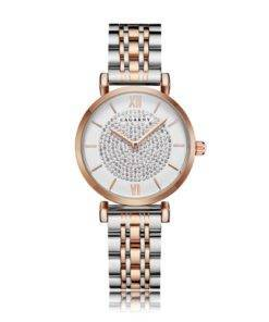 Ha56deb31112e4c889db42bce9409a895I Silver Rose Gold Stainless Steel Bracelet Watch For  Women