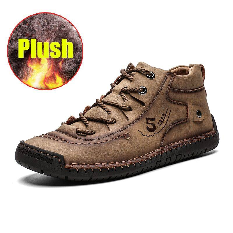 100% Leather – Men British Style Comfortable Walking Shoe