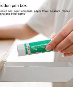 Hacdf469a86fd47f589d23d0930bd3e4eS Self-Adhesive Under Desk Drawer