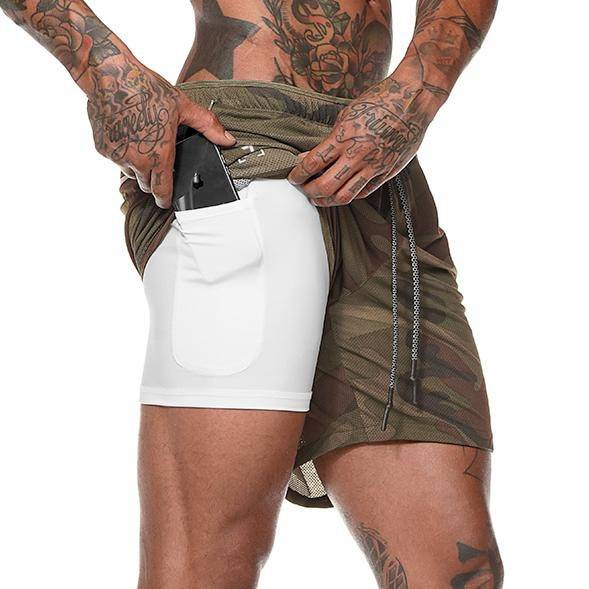 Men's 2 in 1 Summer Secure Pocket Shorts