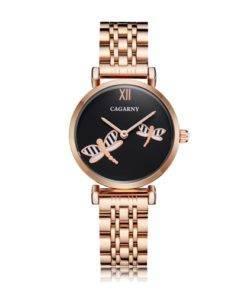 Hcd373261a9734eccbf54a683fd6f43daN Silver Rose Gold Stainless Steel Bracelet Watch For  Women