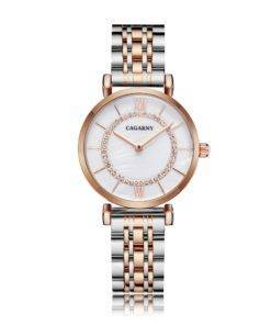 He1bcbc49780b4685a5277ebf0190beefM Silver Rose Gold Stainless Steel Bracelet Watch For  Women