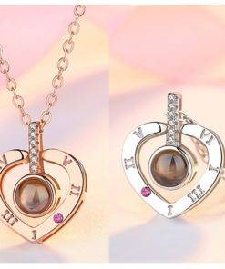 Heb6226745ffb4344a74d9fb94664ce87N 100 Languages I Love You  Necklace