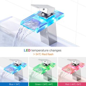 Modern LED Sink Faucet – Color Changing Temperature
