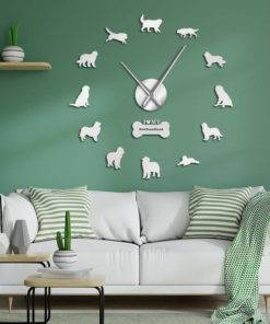 Dog Breed 3D Mirror Effect DIY Wall Clock