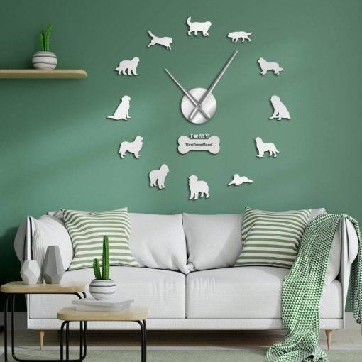 Dog Breed 3D Mirror Effect DIY Wall Clock