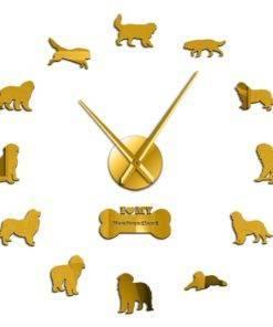 HTB1C1Elc.WF3KVjSZPhq6xclXXaE Dog Breed 3D Mirror Effect DIY Wall Clock