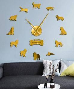 HTB1Vj3mc.GF3KVjSZFvq6z nXXaZ Dog Breed 3D Mirror Effect DIY Wall Clock