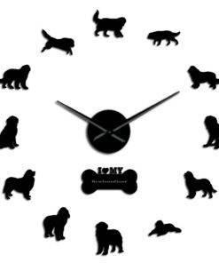 HTB1jf3kc21H3KVjSZFBq6zSMXXaH Dog Breed 3D Mirror Effect DIY Wall Clock