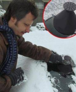 Auto Car Magic Window Windshield Car Ice Scraper Shaped Funnel Snow Remover Deicer Cone Deicing Tool 4 Magic Car Snow Ice Scraper