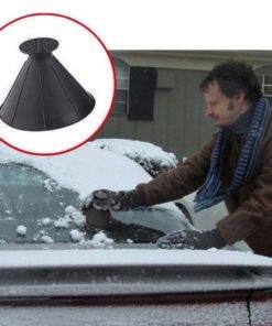 Auto Car Magic Window Windshield Car Ice Scraper Shaped Funnel Snow Remover Deicer Cone Deicing Tool 5 Magic Car Snow Ice Scraper
