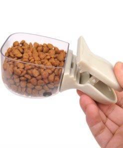 Cute Pet Food Spoon Measuring Cup Multifunction Food Bag Sealing Clip Pet Cat Dog Food Snack 2 Cute Measuring Spoon For Pets