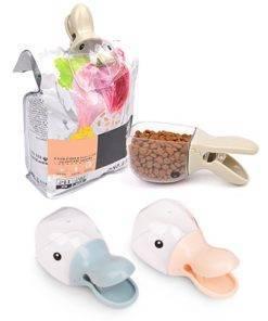 Cute Pet Food Spoon Measuring Cup Multifunction Food Bag Sealing Clip Pet Cat Dog Food Snack 3 Cute Measuring Spoon For Pets
