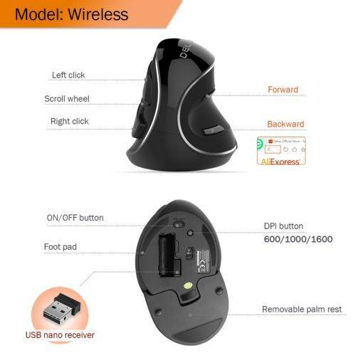 Wireless Vertical Gaming Mouse