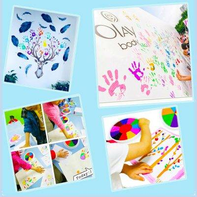 Funny 6 Colors Ink Pad Stamp DIY Finger Painting Craft Cardmaking For Kids Montessori Drawing baby 2