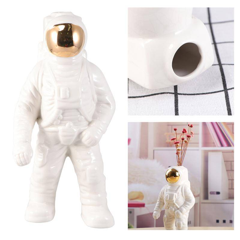 H299b8d149ed545f69e1b5ebdad85097f9 Creative Design Astronaut Flower Pots