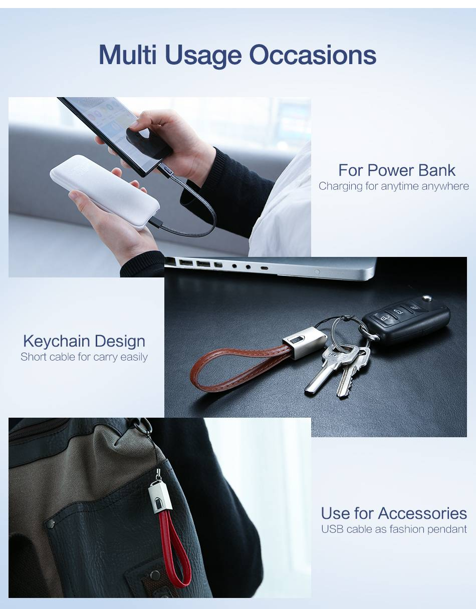 USB Cable Keychain