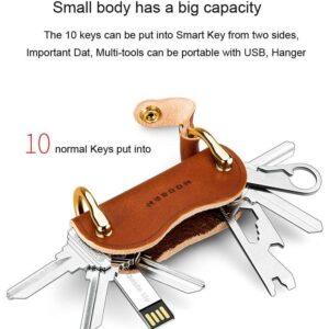 Modern Genuine Leather Smart Key Wallet