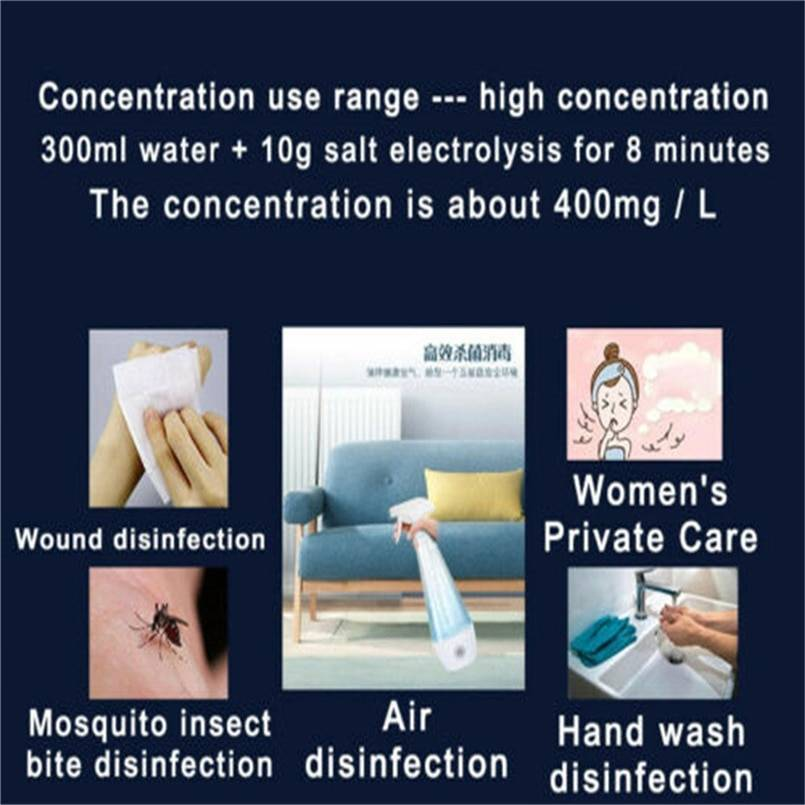 300ml Portable disinfection liquid making machine homemade disinfection spray HOCl Disinfection machine 30M16 (8)