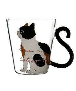 Justdolife 8 5oz Cute Creative Cat Milk Coffee Mug Water Glass Mug Cup Tea Cup Cartoon 2 Cat Milk - Coffee Mug - Cartoon Kitty Home Office Cup For Fruit Juice
