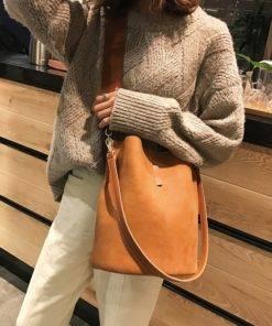 Women Messenger bag – Bucket Shoulder Bag large capacity vintage