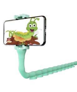 SHELLNAIL Cute Caterpillar Lazy Bracket Mobile Phone Holder Worm Flexible Phone Suction Cup Stand For Home 3 Lazy Bracket Mobile Phone Holder Worm