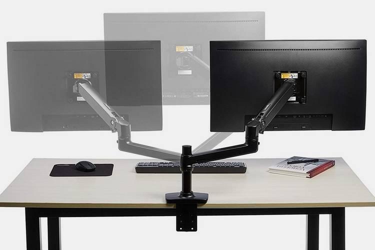 060 amazonbasics premium single monitor stand