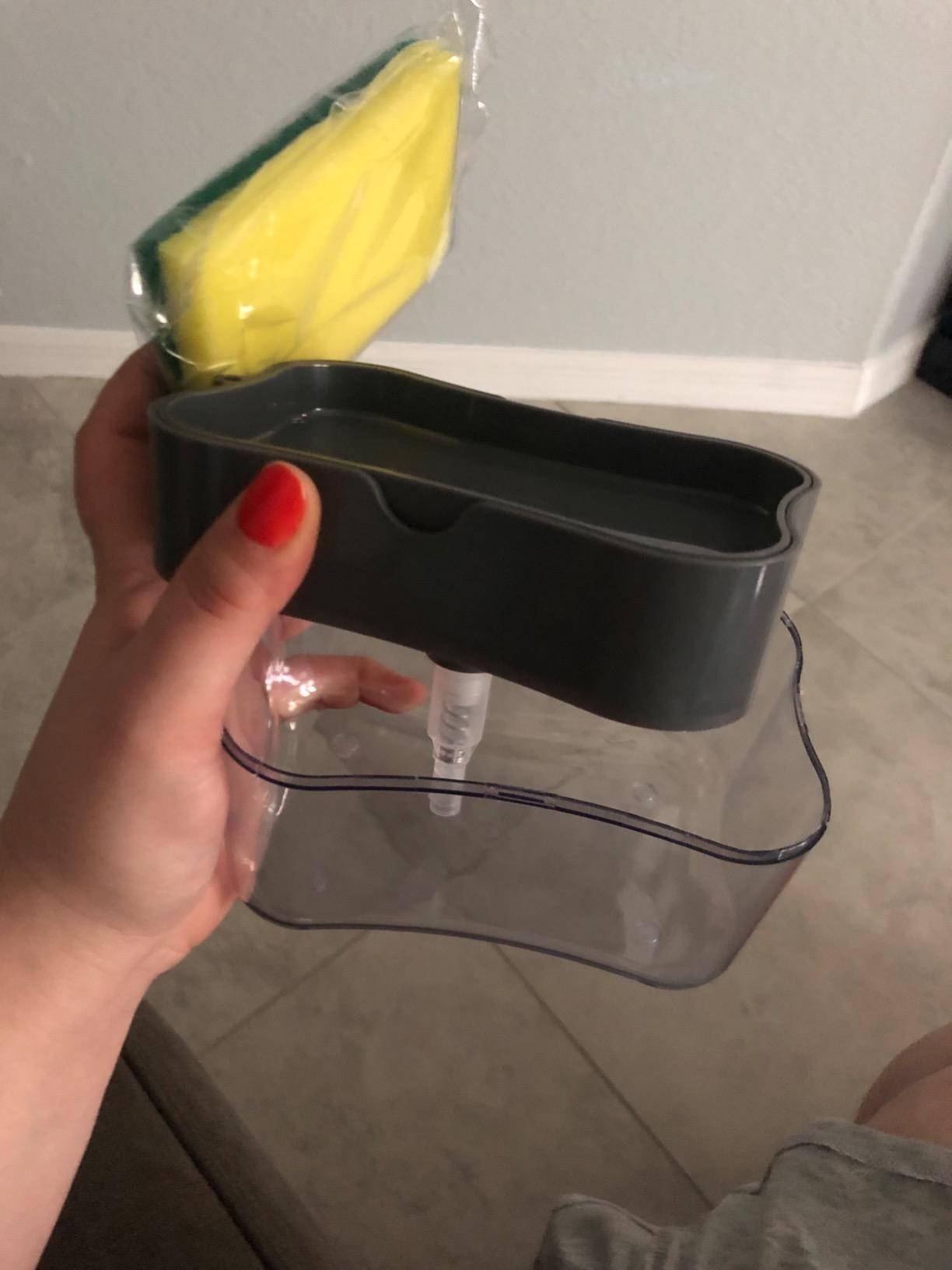 2-in-1 Soap Dispenser Sponge Caddy