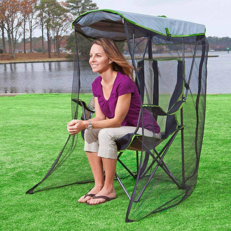 Canopy Chair With Mosquito Protector