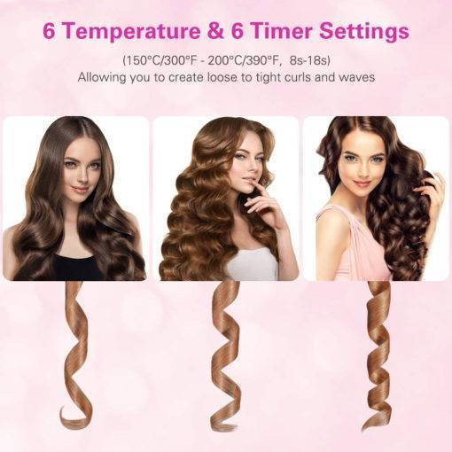 USB Rechargeable Cordless Automatic Hair Curler