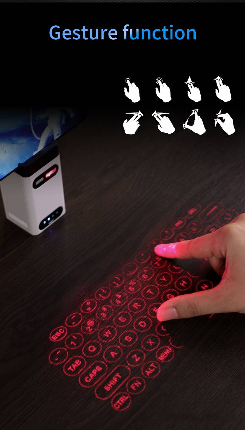Wireless Laser Projection Bluetooth Virtual Keyboard and Mouse