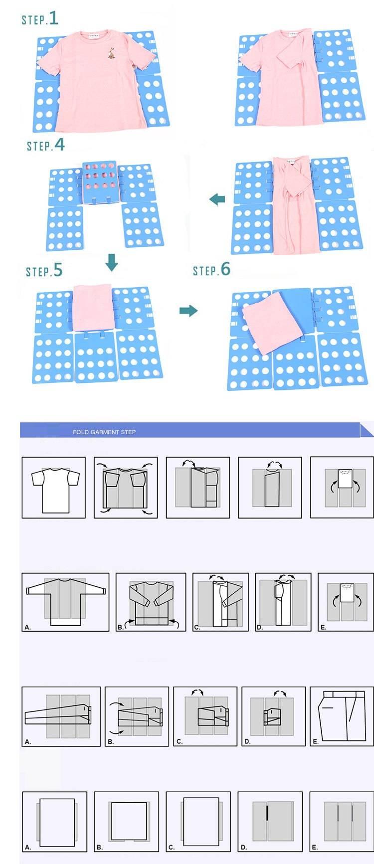 HTB1BzsmyUR1BeNjy0Fmq6z0wVXac DIY Clothes Folder  - T Shirts Jumpers Organiser