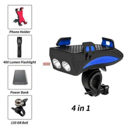 Multi-function Bicycle Light phone holder + flashlight +power bank