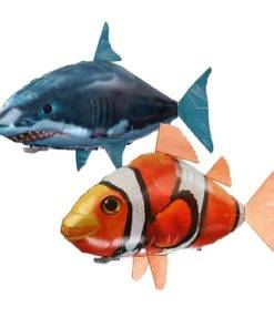 Remote Control Shark Toys Air Swimming Fish Infrared RC Flying Air Balloons Clown Fish Kid Toys 1 Awesome Remote Control Flying Shark Toy