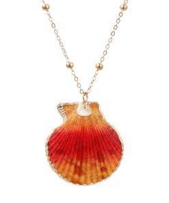 Trendy Bohemian Layers Shell Pendant Necklace Natural Gold Cowrie Chain For Women Friend Seashell Unique Gift 1 Trendy Bohemian Seashell Necklace Collection