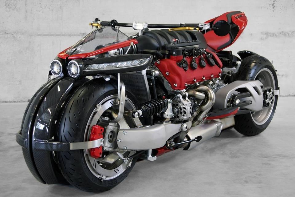 lazareth 470 hp masarati 470-HP Lazareth LM 847 Motorcycle With Maserati Engine